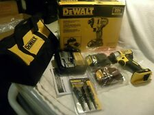 "Dewalt 20V Max Brushless 1/4"" Impact Driver Kit DCF787C2 2 Batt NEW +NUT DRIVERS"