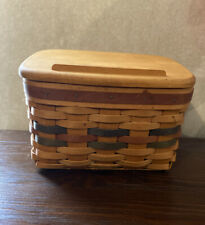 Longaberger 1994 Shades of Autumn Recipe Basket w Lid and Protector