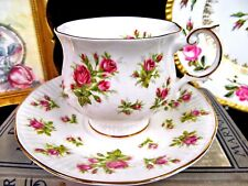 QUEENS TEA CUP AND SAUCER COUNTRYSIDE SERIES MOSS ROSE TEACUP CUP & SAUCER BR