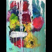 Matt Scalf Abstract ORIGINAL PAINTING 9x12 Modern Contemporary Expressionism