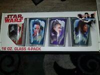NEW Star Wars The Last Jedi 4 Pack Pint Glasses