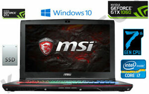 "MSI GE62VR 15.6"" Intel Core i7 7th Gen. 2.80GHz, 256GB SSD, 1TB, 16GB RAM Gaming"