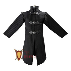 Medieval Gambeson jacket Knight Armor narrow Quilted Costumes LARP Renaissance
