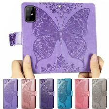 For Samsung A21S A41 A51 A71 Butterfly Leather Phone Case Card Wallet Flip Cover