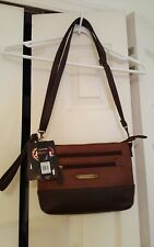 Stone Mountain 3 Bagger All-In-One Crossbody Handbag Brown/Cognac, New With Tags