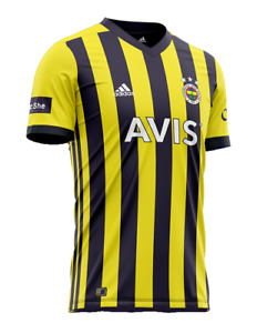 Fenerbahce Adidas 2020/21 Home Match Jersey Official Licensed DHL Shipping
