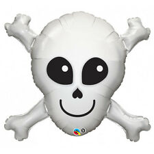 "HALLOWEEN PARTY SUPPLIES BALLOON 32"" HAPPY SKULL FOIL SPECIAL SHAPE BALLOON"