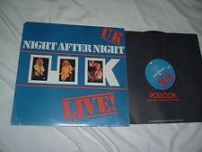 UK Night After Night LP JOHN WETTON KING CRIMSON prog.rock ORIG MINT- SHRINK !!