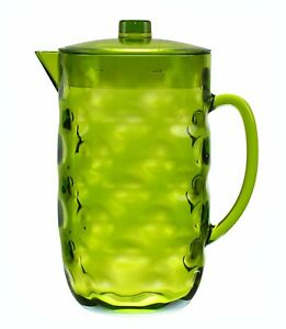 QG BPA Free Acrylic Plastic Pitcher with Lid great for Iced Tea & Juice Green