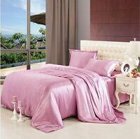 100% Seide Bettwäsche 2x Kissenbezüge+Bettbezug 3-tlg 8 Farbe 25m/m BW0010