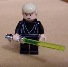 Lego Star Wars Luke Skywalker ( Skiff ) Figur schwarz mit Laserschwert gelb Neu
