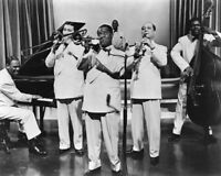 Jazz Band LOUIS ARMSTRONG Glossy 8x10 Photo Music Print Entertainment