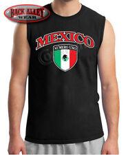 Mexico Crest Pride Sleeveless Muscle Shirt Mexican Flag Numero Uno Hispanic