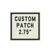 """Set of 2 Custom Embroidered Name Tag, Biker Patch, badge 2.75"""" square"""