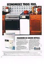 PUBLICITE  1977   DEVILLE  chaudière de cuisine