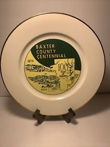 1873-1973 Vintage Baxter County Arkansas Centenntial Ceramic Plate
