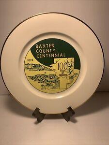 1873-1973 Vintage Baxter County Arkansas Centenntial Ceramic Plate