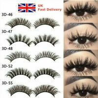 5 Pairs 3D Fake Eyelashes Long Thick Natural False Eye Lashes Set Mink Makeup AU