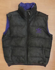 Men's Retro adidas Large Gilet Body Warmer Denim Purple Down Filled Feather R3-7