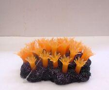 Aqua Deco 389D Ornamento de acuario Naranja Suave Flor peces tanque de arrecife de coral