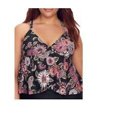 NWT Raisins Curve Floral  Tankini Top Womens Swimsuit Plus Size 20W $58 M257