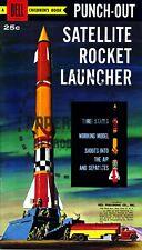 Vintage Reprint - 1959 - Satellite Rocket Launcher Punch-Out Book - Reproduction