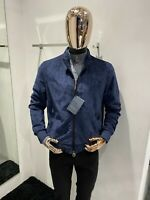 STEFANO RICCI Blue Bomber Jacket Size 48 / S (100% Authentic & NEW)
