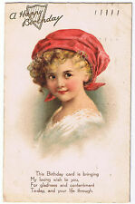 Vintage Philco Birthday Postcard 'A Happy Birthday' - no stamp - 1929