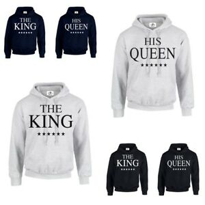THE KING HIS QUEEN HOODIE Christmas mine valentines Couples Matching gift (HOOD)