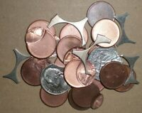 (LOT OF 23)  LINCOLN MEMORIAL CENT US MINT ERROR COINS OFF CENTERS BLANKS & WEBS