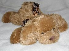 More details for chad valley brown dog soft toy puppy comforter doudou