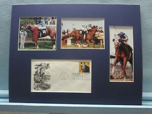 Secretariat Wins the Triple Crown & the First day Cover of the Secretariat stamp