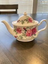 Roy Kirkham Tea Pot English Rose Fine Bone China Made In England Copyright 1992