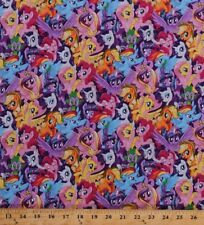 Hasbro My Little pony Packed Pony Magic Character 100% Cotton fabric by the yard