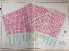 1908 BROMLEY BROOKLYN BRIDGE FULTON FISH MARKET PS 114 MANHATTAN COPY ATLAS MAP