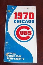 Chicago Cubs Official Roster Book press.tv 1970 Mid Season Edition  Ernie Banks
