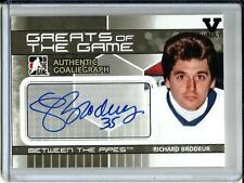 Richard Brodeur 09/10 ITG Between The Pipes Autograph