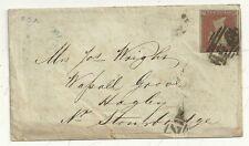 * 1852 RARO Birmingham ROLLER Annulla COPERCHIO ma un altro Francobollo rimosso