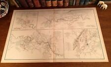 Original Antique Civil War Map FREDERICKSBURG Virginia WINCHESTER Robert E Lee