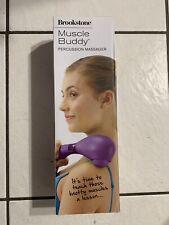 Brookstone Muscle Buddy Percussion Massager 3 Speed | 979917 | Purple
