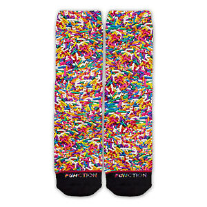 Function - Sprinkles All Over Socks Pattern Novelty Rainbow Ice cream colorful