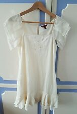 Lovely Ted Baker 100% silk short summer Dress, size 1 or UK8 - VGC