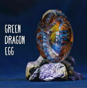 Unique Crystal Transparent Lava Dragon Egg Resin Handmade Sculpture Decor NEW AU