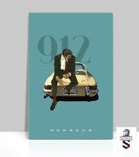 """Iconic 1960's pop culture. 1965 Porsche 912 Vintage poster Aluminum 36""""x 24"""""""