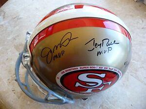 Joe Montana/Jerry Rice Signed S.F. Helmet w/S.B. Champ Decal,UDA, Limited 93/149