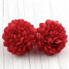 100PCS Red Carnation Fake Flower Head Silk Artificial Flowers Wedding Decorative