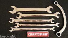 CRAFTSMAN TAPPET Wrench Set SAE STD 5pc OBSTRUCTION Wrench FULL POLISH #903