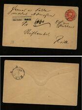 Denmark,  Holseted postal  envelope  registered  to  Ribe  HC0325