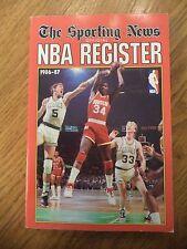 1986 - 1987 OFFICIAL NBA REGISTER THE SPORTING NEWS AKEEM OLAJUWON ROCKETS