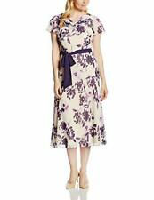 New Jacques Vert dress 14 16 20 Chiffon floral Flute sleeve Bias Flare rrp £179